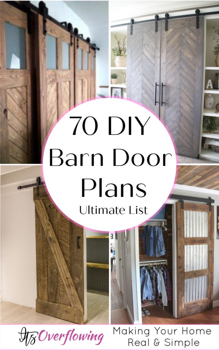 70 DIY Barn Door Plans and Ideas