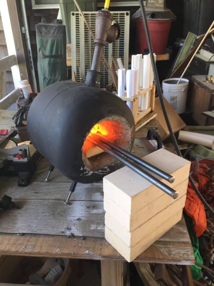 Adorable DIY Homemade Propane Forge