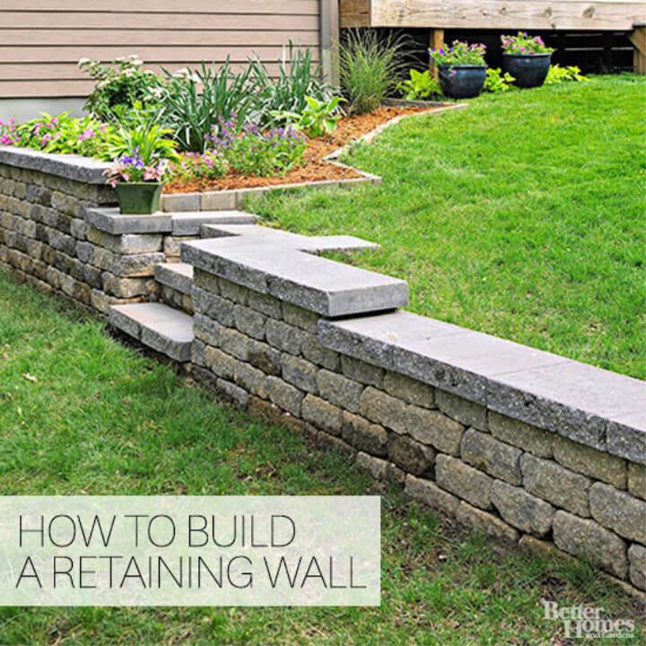 Adorable DIY Retaining Wall
