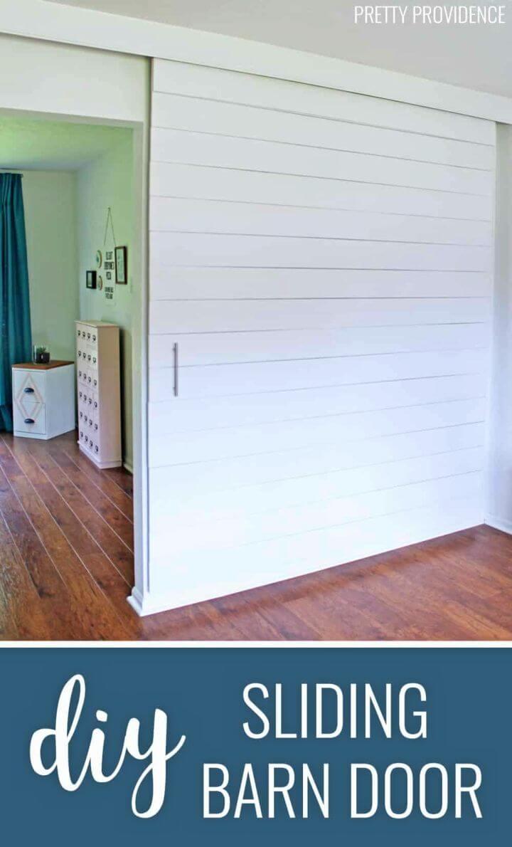 Adorable DIY Sliding Barn Door
