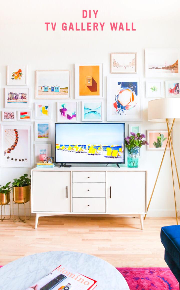 Adorable DIY TV Gallery Wall