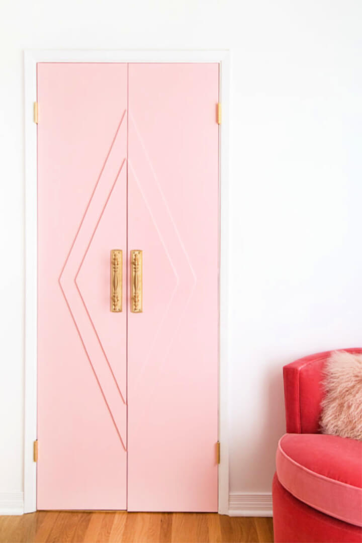 Awesome DIY Pink Closet French Doors