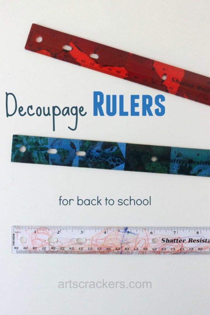 Back to School Decoupage Ruler