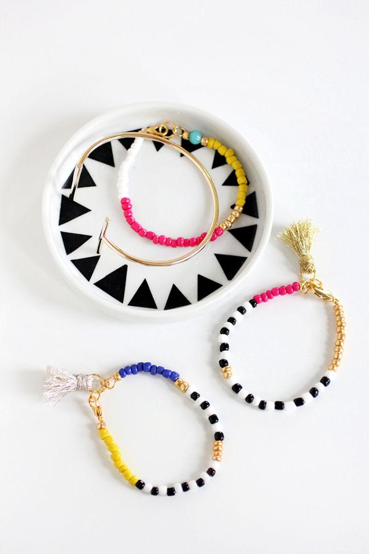 Beaded Tassel Friendship Bracelet Pattern