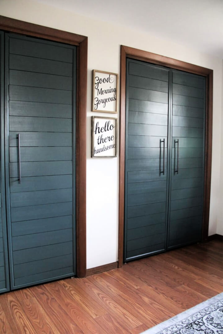 Bi fold to Faux Shiplap French Closet Doors