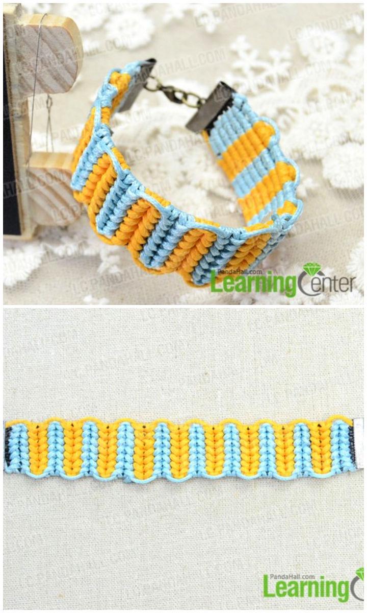 Bracelet with Half Hitch Knots