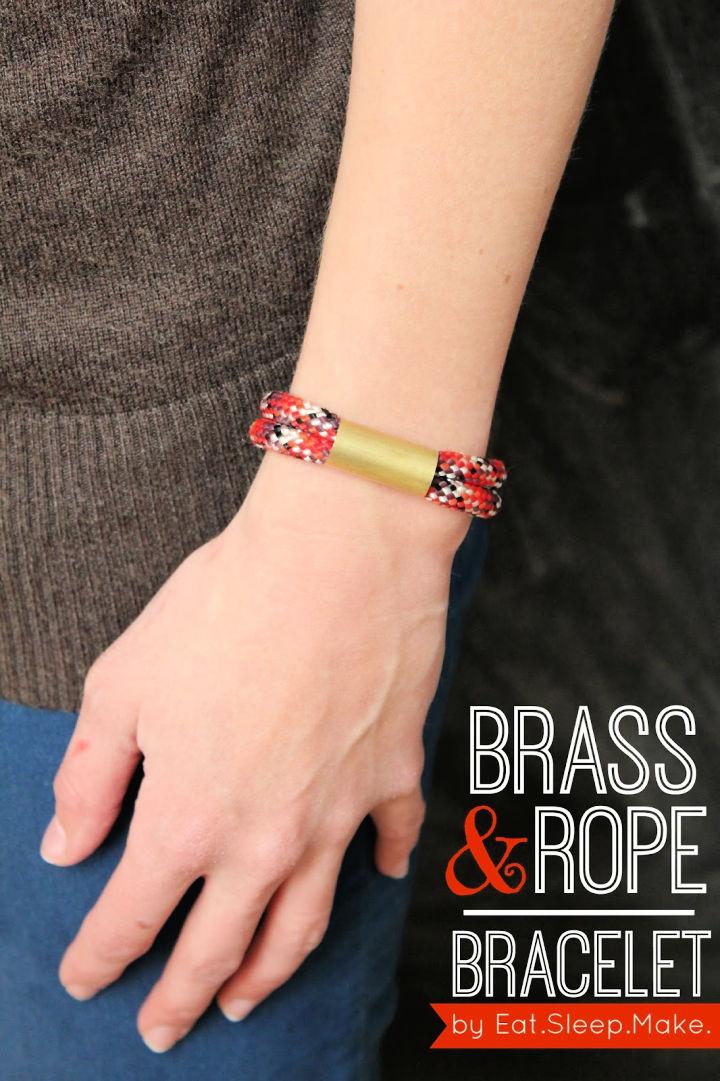 Brass and Rope Bracelet Jewelry Pattern