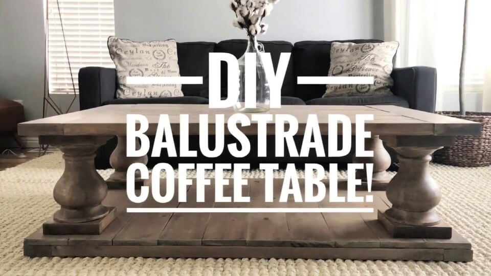 Build Balustrade Coffee Table for under 200