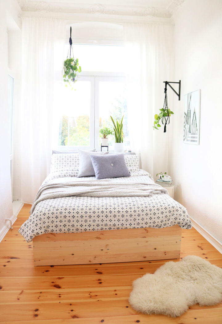 Build Bed Frame Out Of Wood Panels
