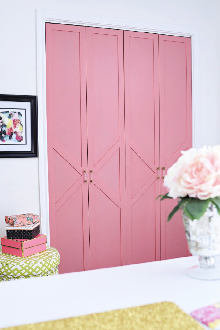 Build Coral and Glam Bi fold Closet Door