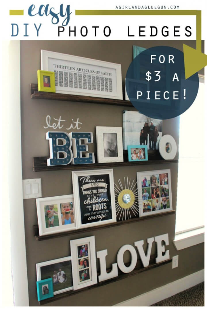 Build Gallery Wall With Picture Ledges