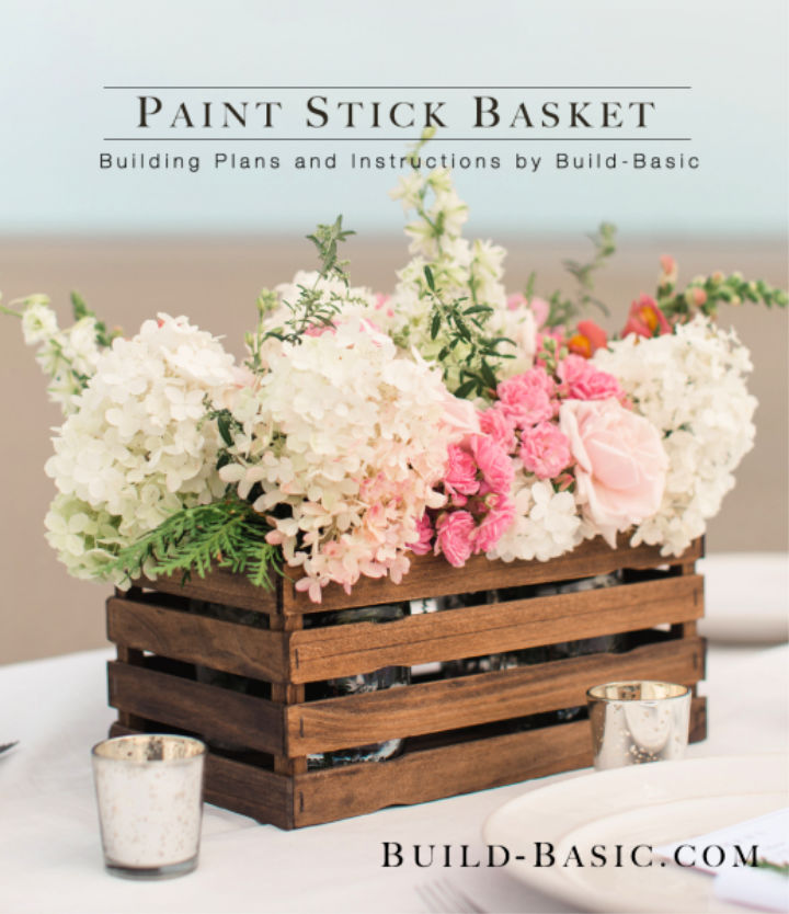 Build a Paint Stick Basket to Sell