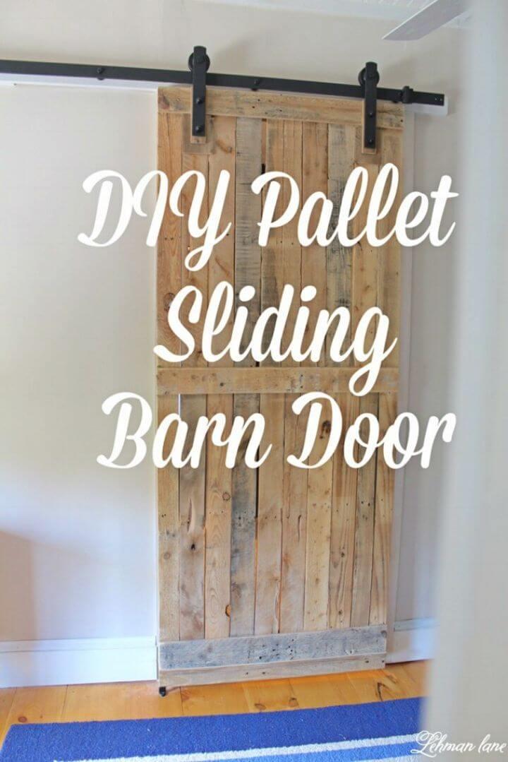 Build a Pallet Sliding Barn Door