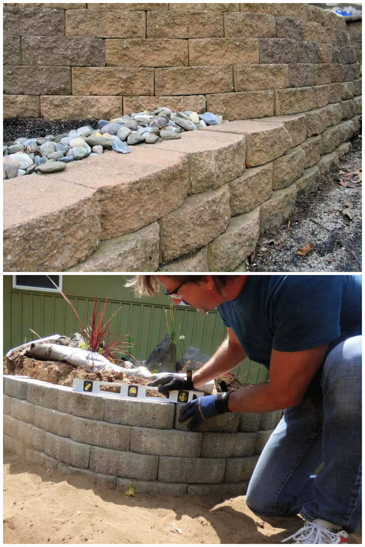 Build a Retaining Wall With Blocks