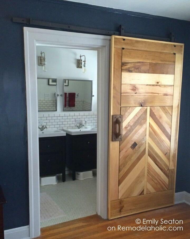 Build a Wood Chevron Barn Door