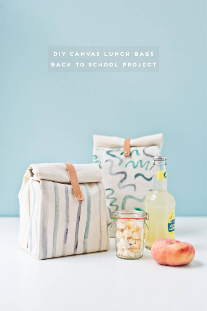 Canvas Lunch Bag for Back to School