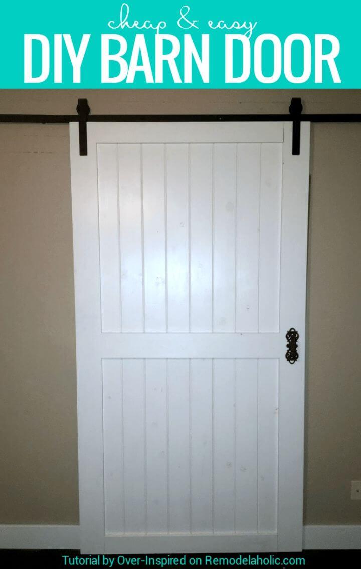 Cheap and Quick DIY Barn Door