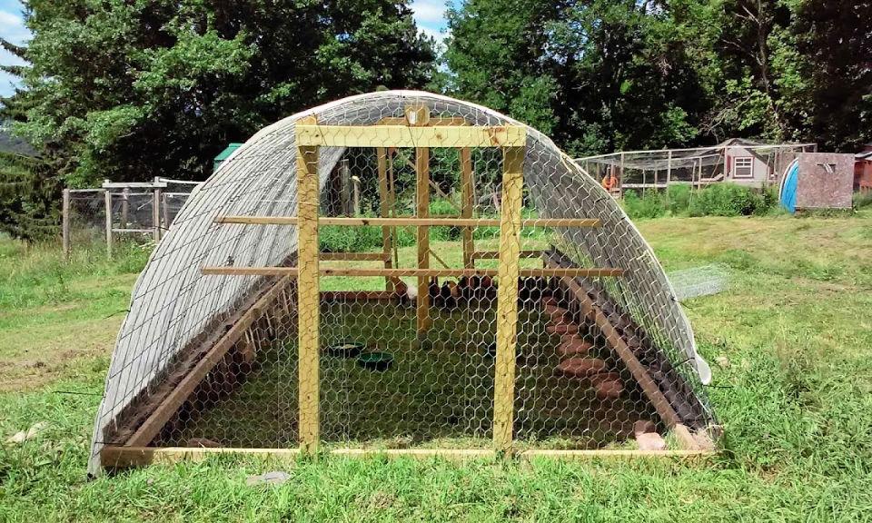 Chicken Coop on a Pallet Foundation