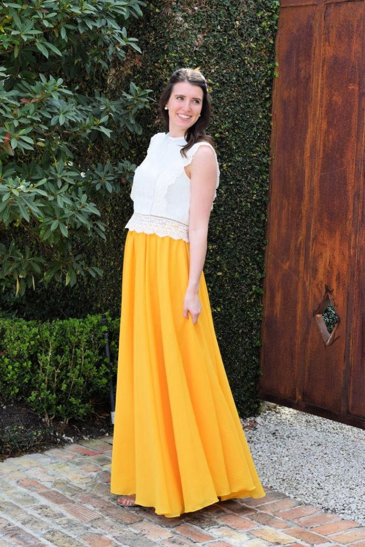 Chiffon Maxi Circle Skirt Sewing Pattern