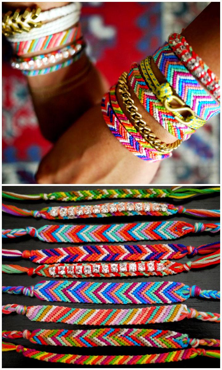Classic Chevron Friendship Bracelet Pattern