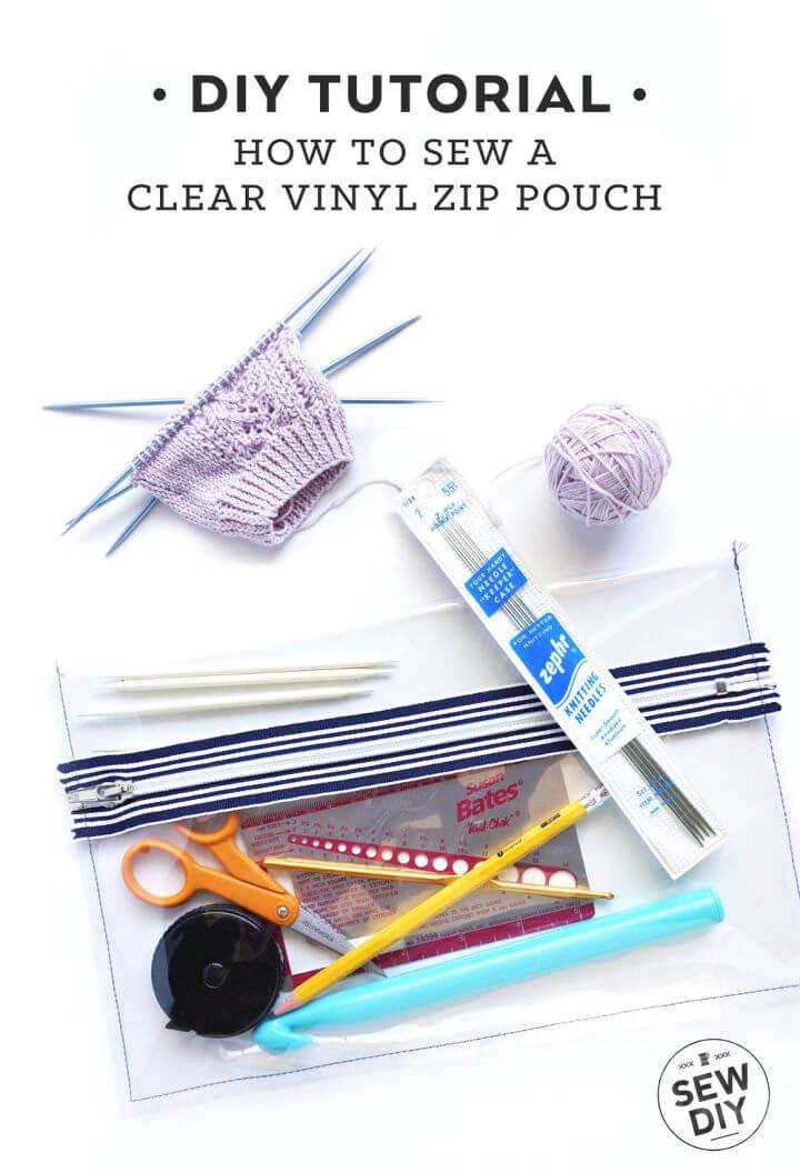 Clear Vinyl Zippered Pouch