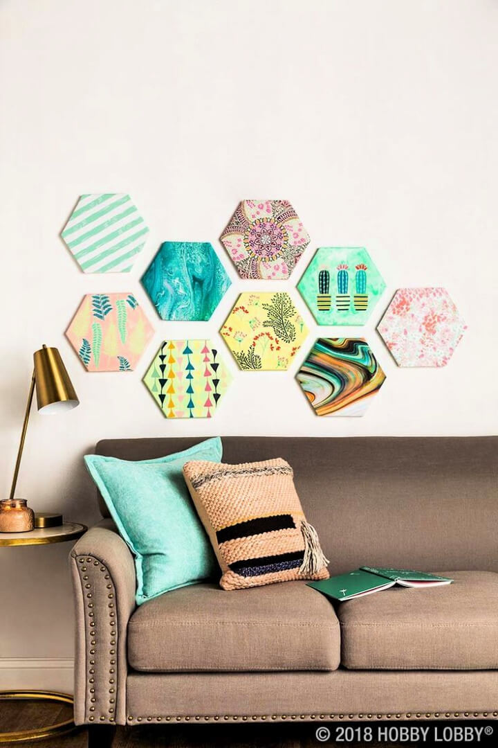 Customizable Gallery Wall With Shaped Canvas