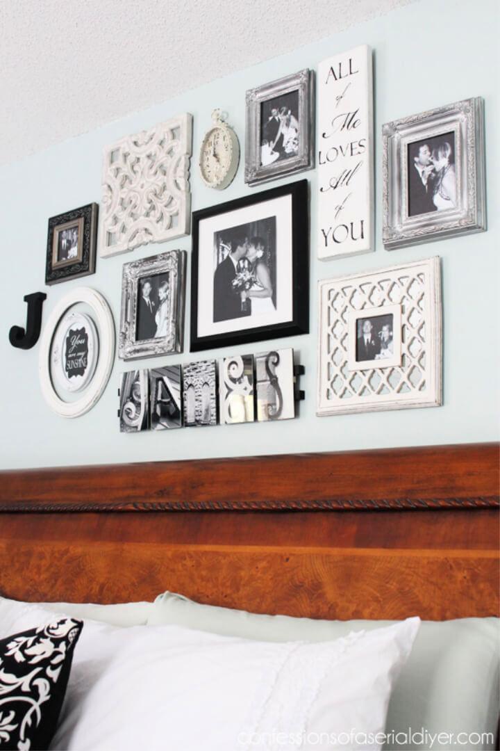 DIY Bedroom Gallery Wall