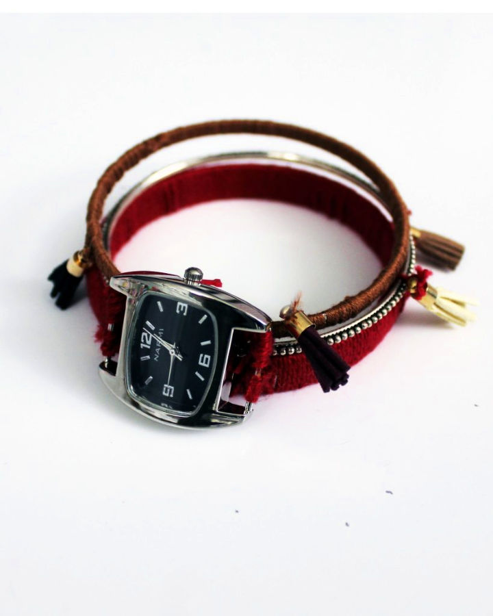 DIY Boho Chic Stacking Bangle Watch