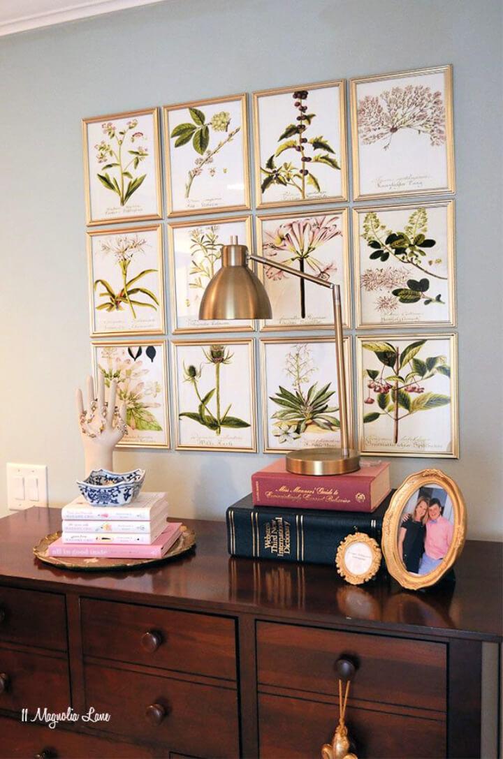 DIY Botanical Gallery Wall