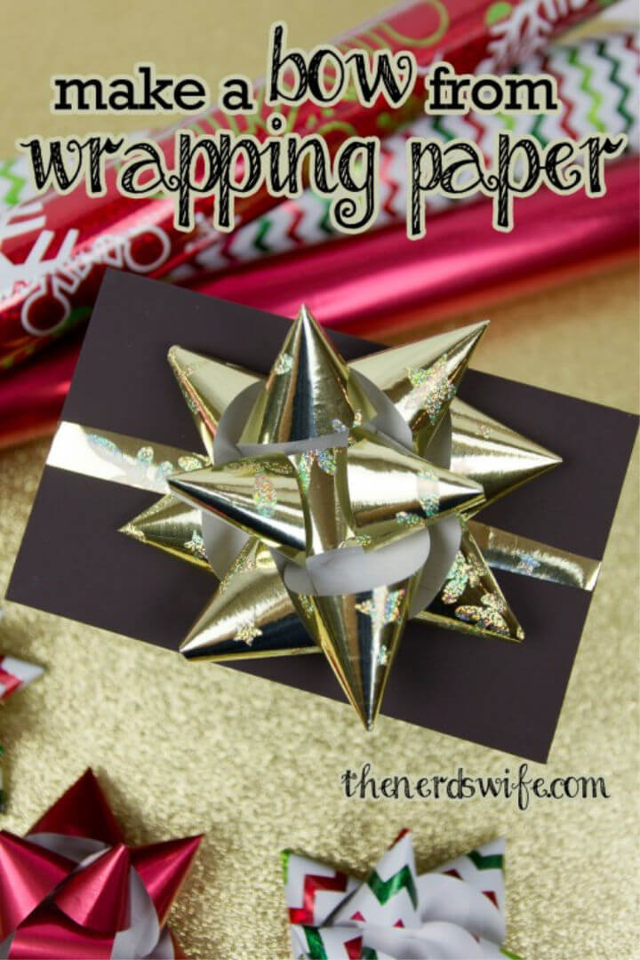 DIY Bow from Wrapping Paper
