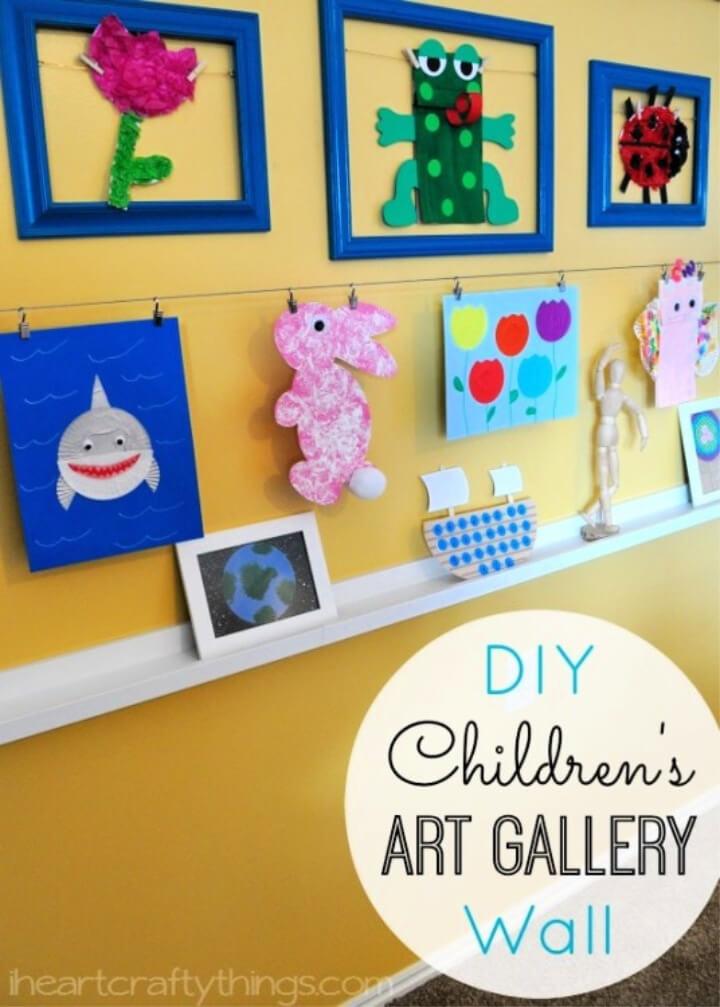 DIY Children's Art Photo Wall