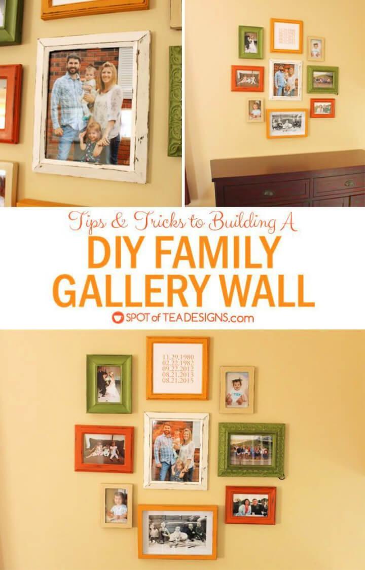 DIY Coordinating Family Gallery Wall