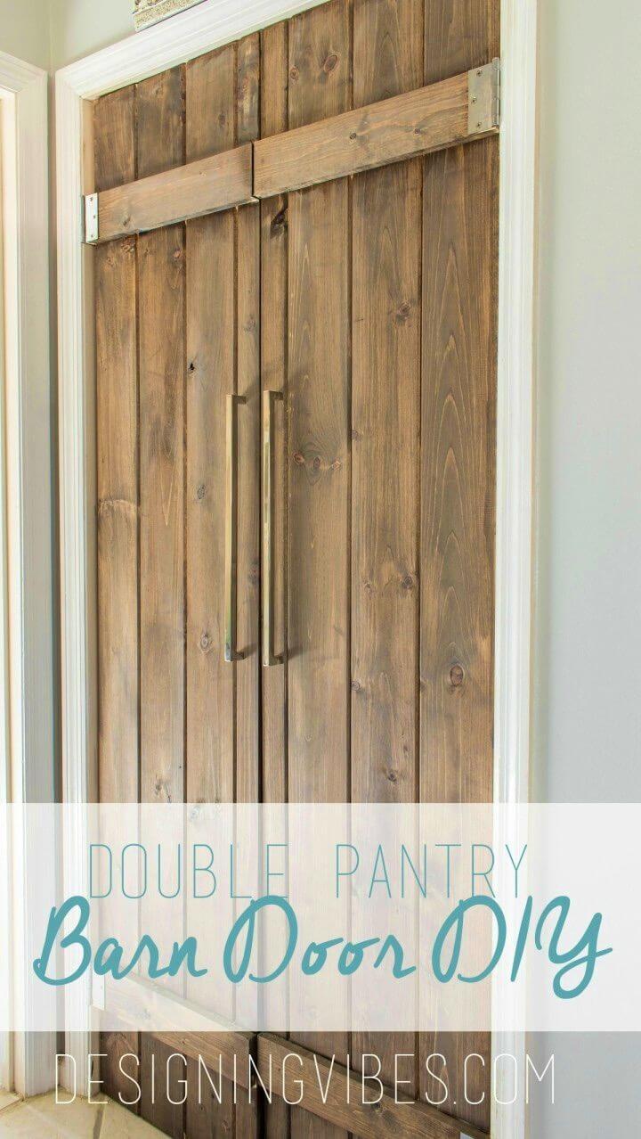 DIY Double Pantry Barn Door Under 90