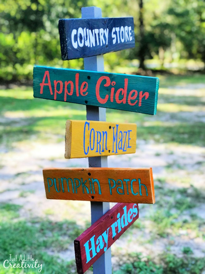 DIY Fall Directional Signs