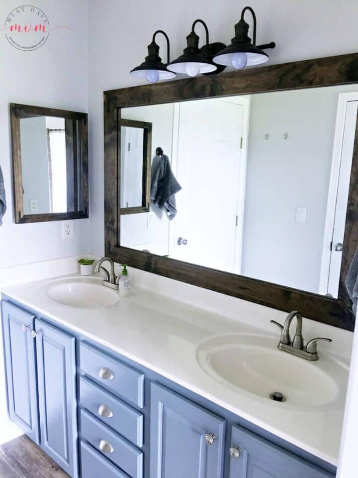 DIY Farmhouse Style Vanity Mirrors Tutorial