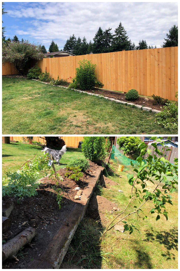 DIY Fence and Retaining Wall