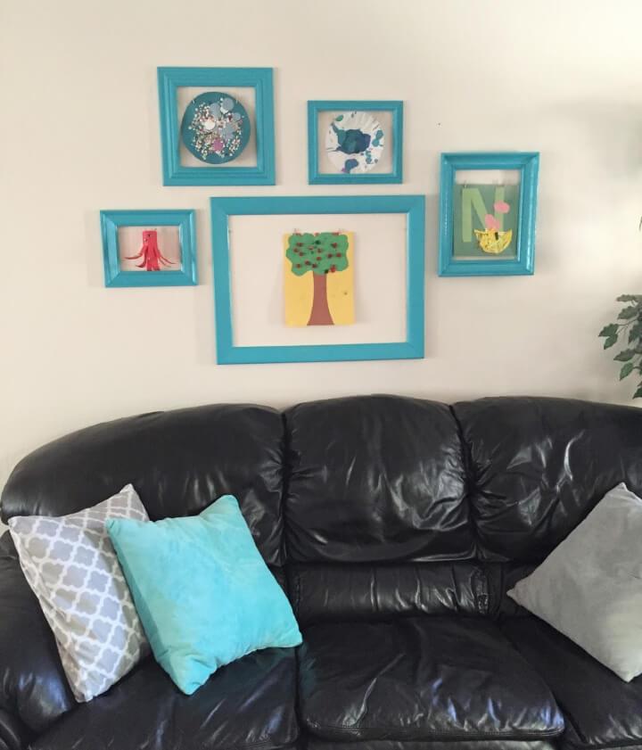 DIY Gallery Wall to Display Kid's Art