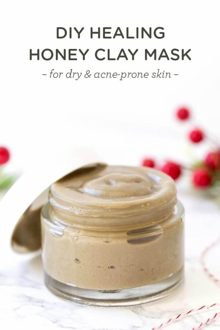 DIY Healing Honey Clay Mask Acne Prone Skin 1