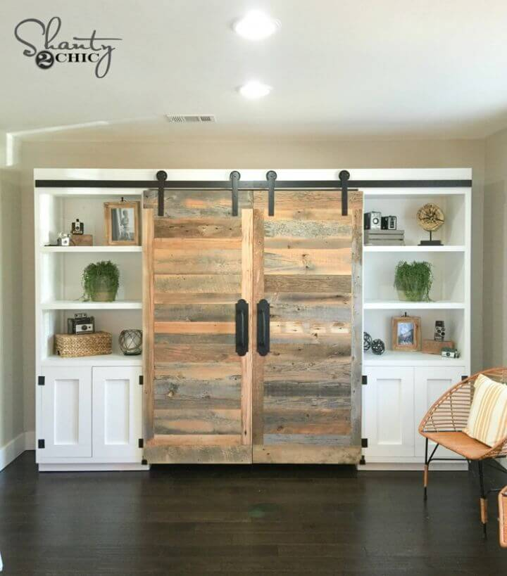 DIY Hidden Study with Sliding Barn Doors