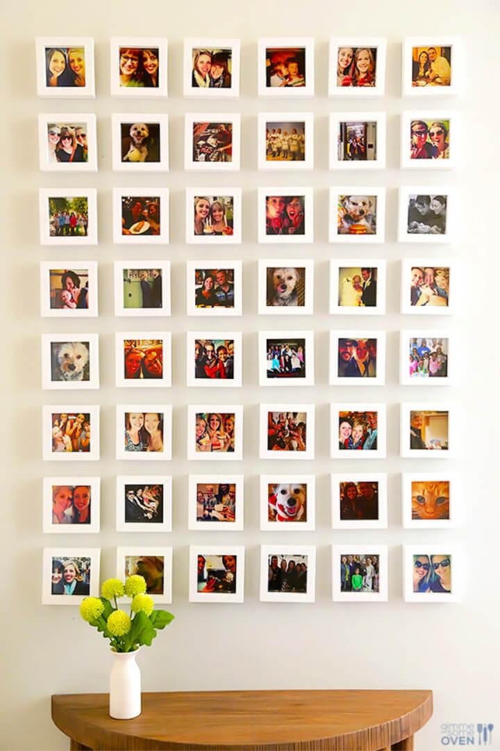 DIY Instagram Gallery Wall