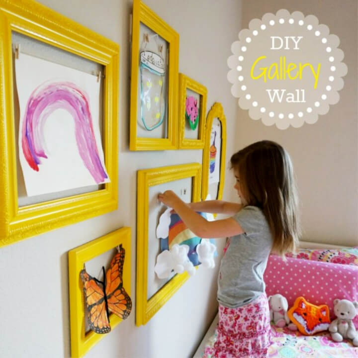 DIY Kids Art Gallery Wall