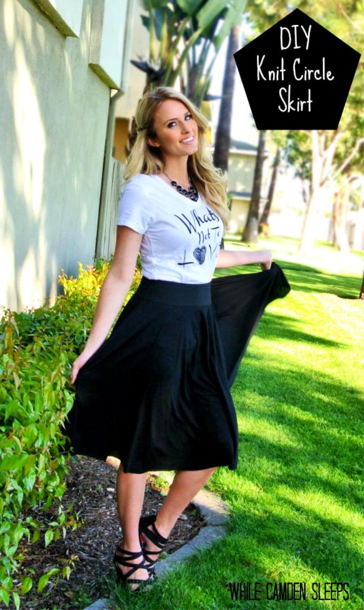 DIY Knit Circle Skirt