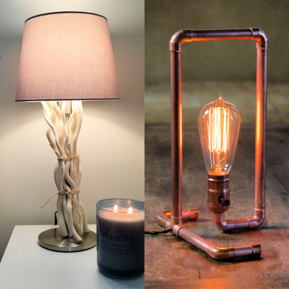 30 DIY Lamp Ideas That Are Easy to Make - Its Overflowing
