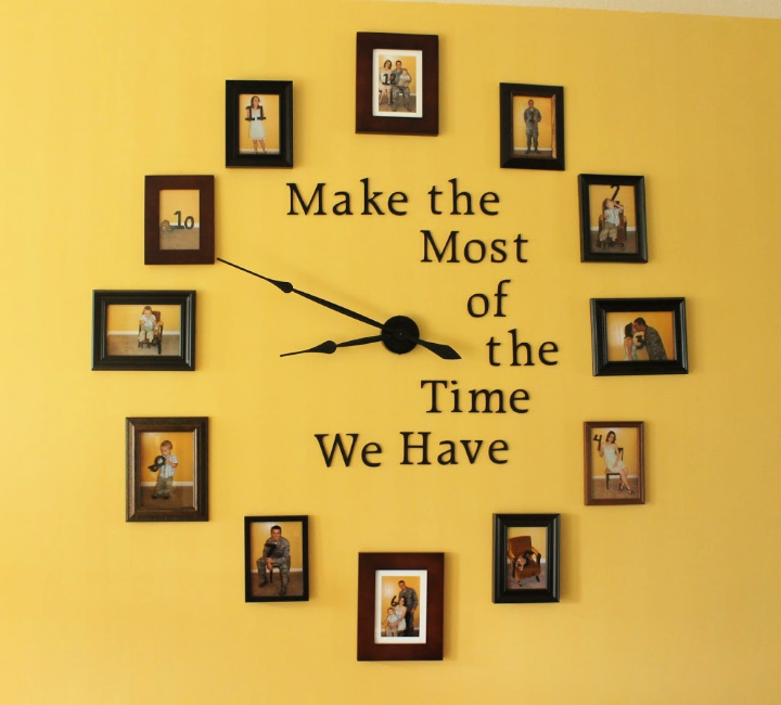 DIY Large Photo Wall Clock Gallery