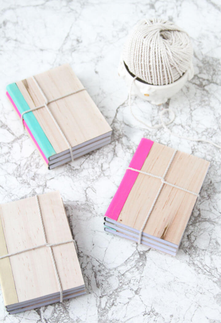 DIY Leather and Wood Covered Notebooks