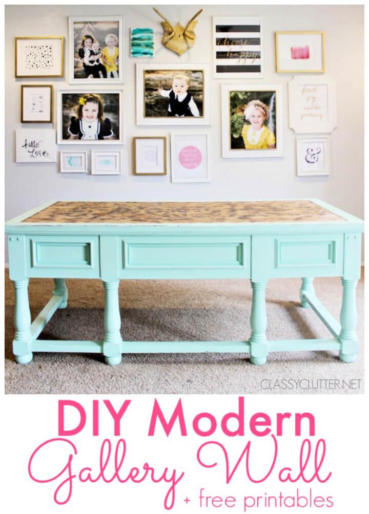 DIY Modern Gallery Photo Wall