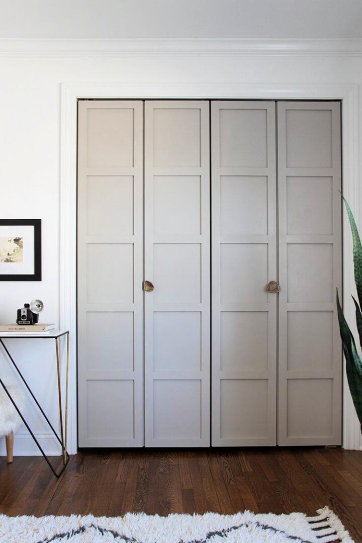 DIY Paneled Bi fold Closet Door