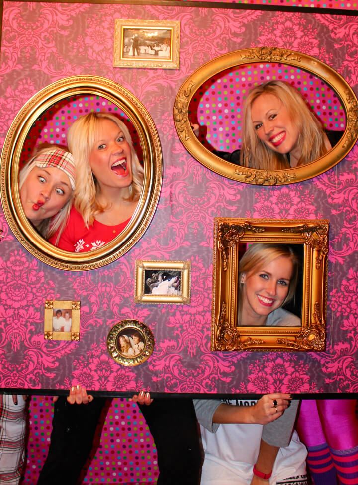 DIY Photo Booth Picture Wall for 10