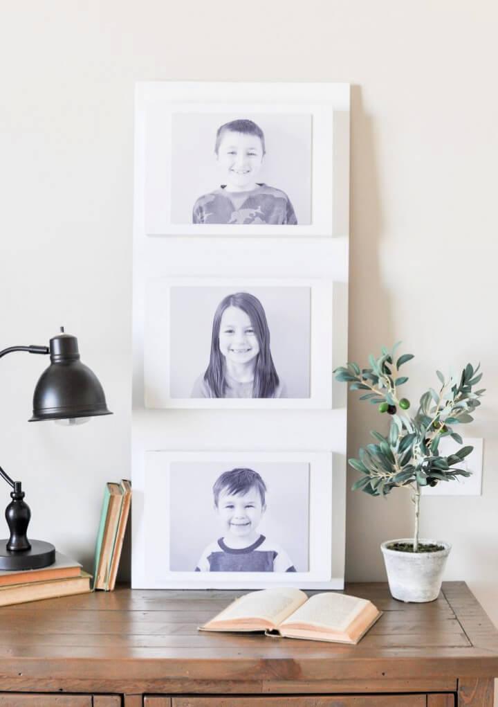 DIY Photo Wall Pocket Organizer