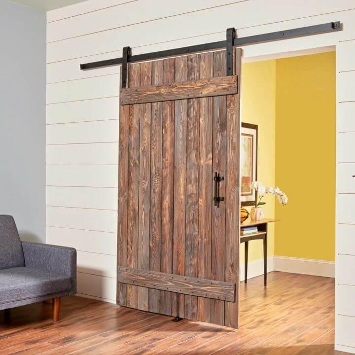 DIY Rustic Barn Door and Hardware